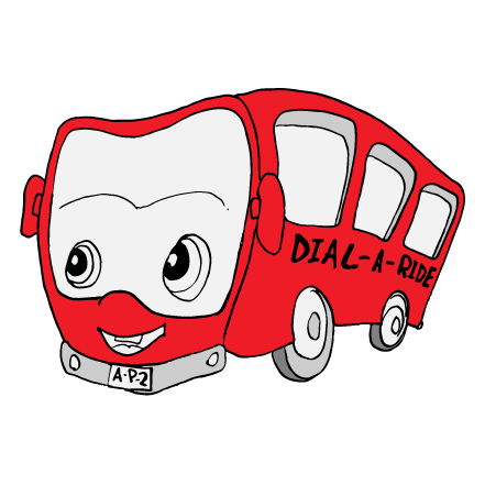Dial-A-Ride bus illustration